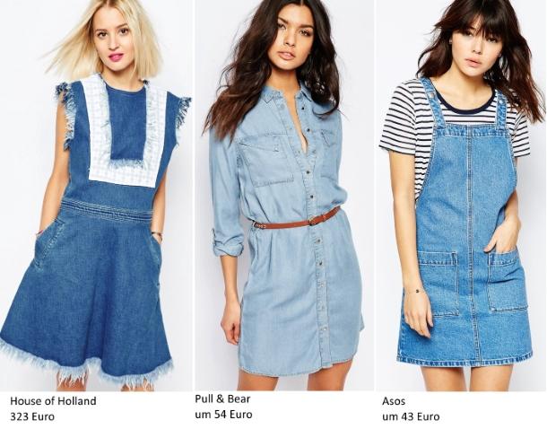 Frühling-Trends: Jeanskleider
